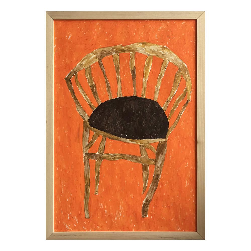 Seduta arancione di Miss Goffetown
