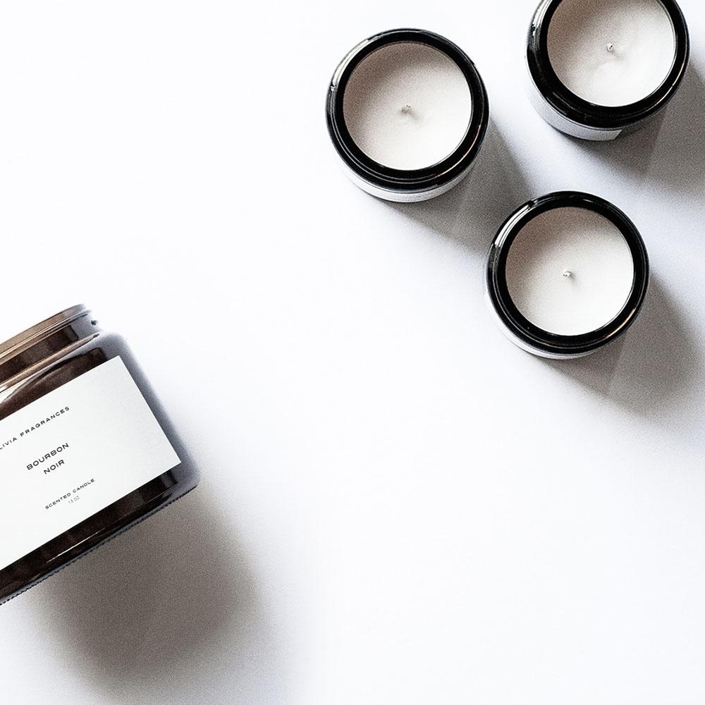 Candle Bourbon noir mignon
