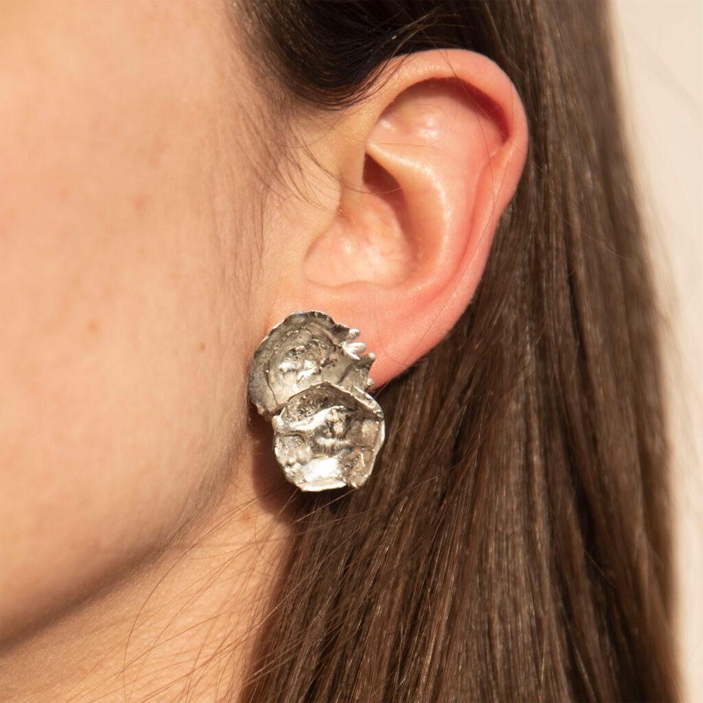 Tin earrings goccia
