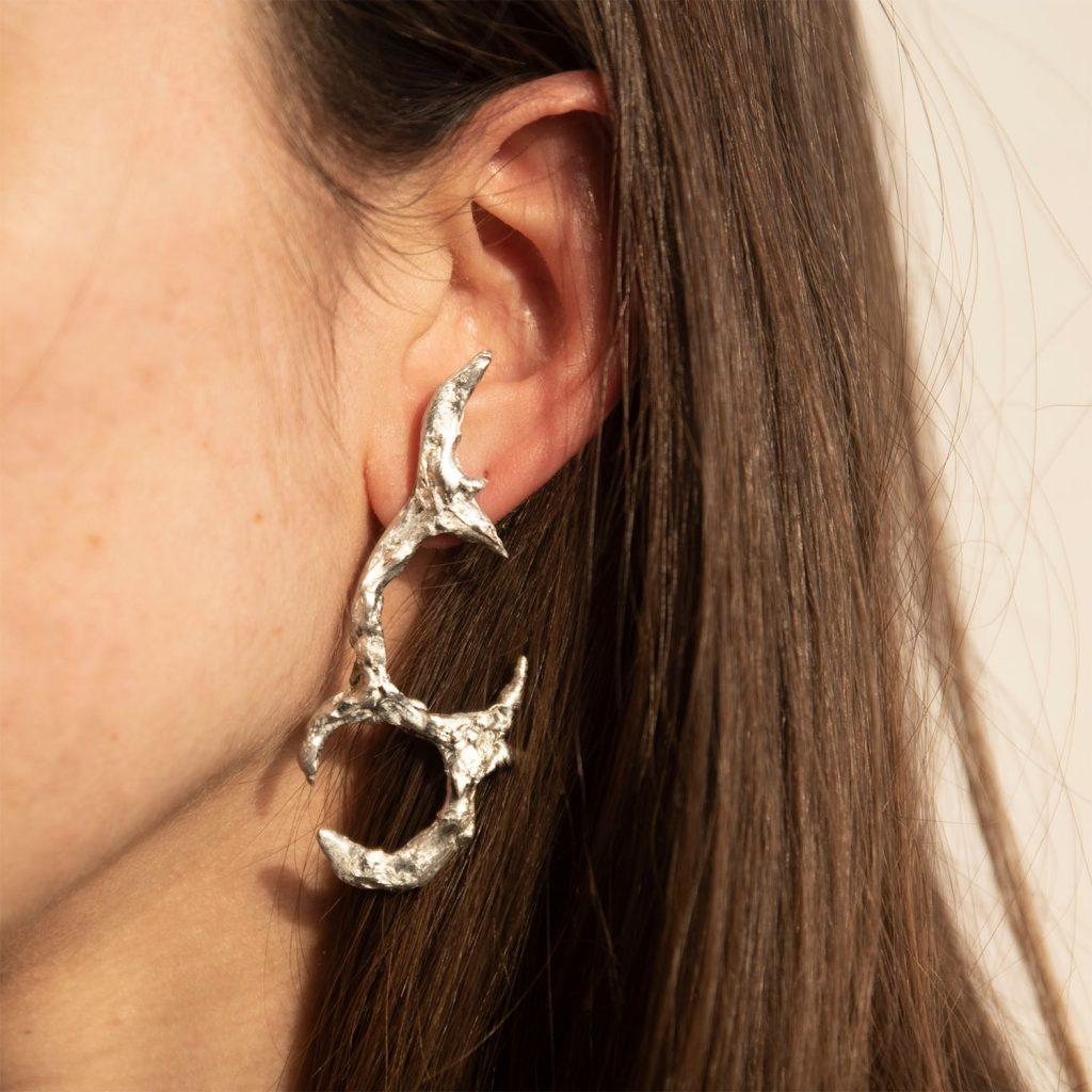Tin earrings pungente