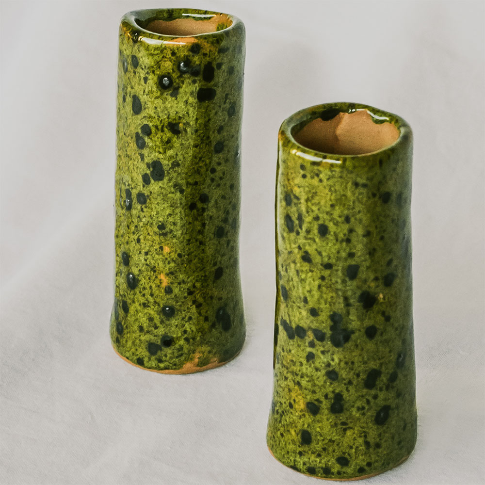 Candle holder Spotted Pair