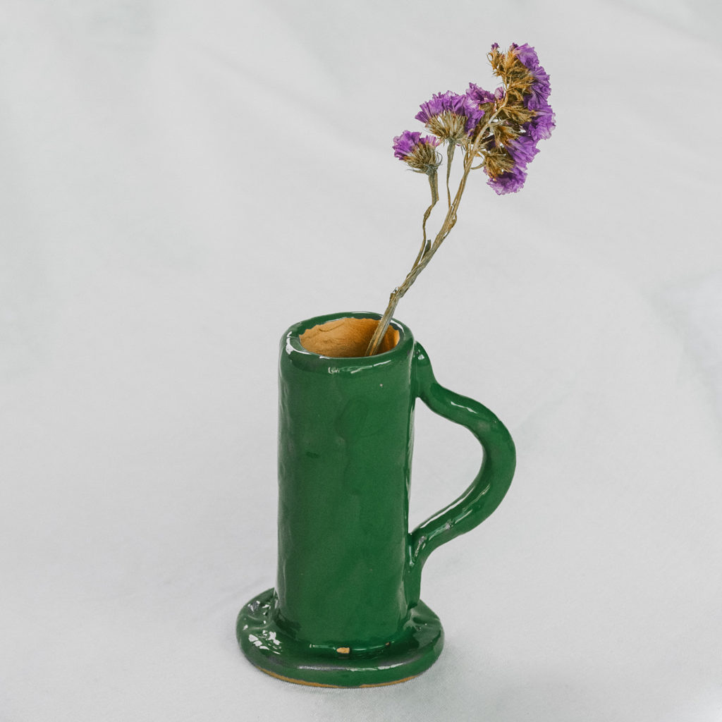 Candle holder Singolo green