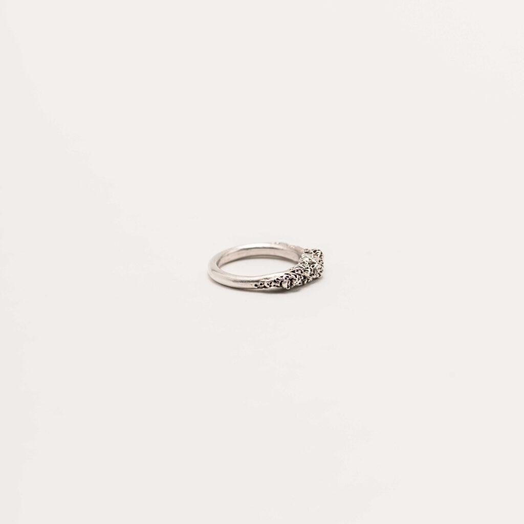Corallo silver ring