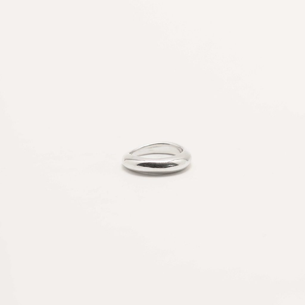 Irregular silver ring