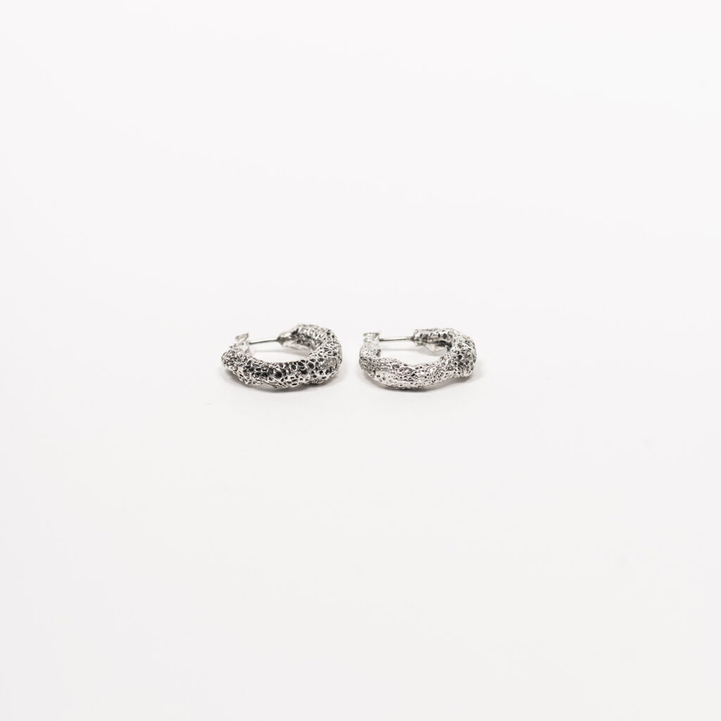 Corallo silver earrings