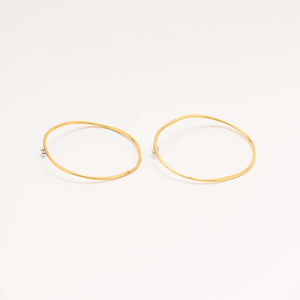 Sformati brass earrings