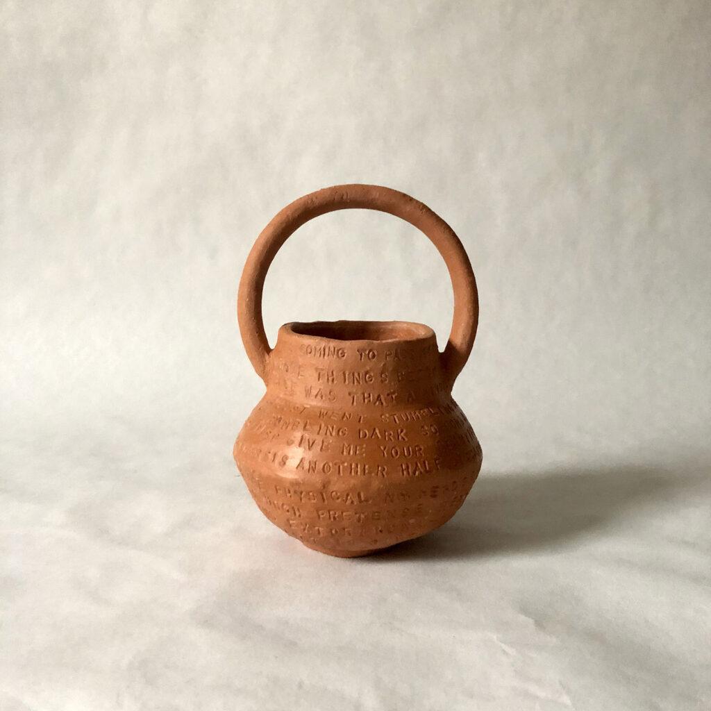 Spoken words - red vase