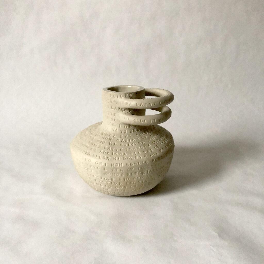 Spoken words - white vase