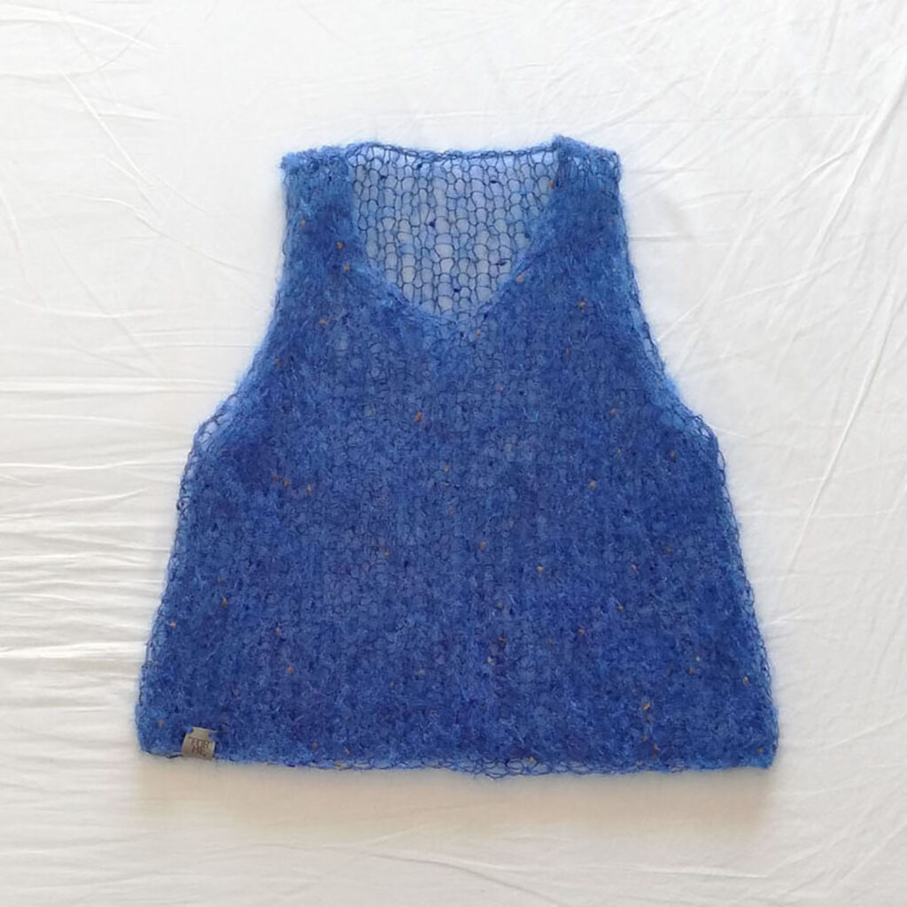 Gilet Mohair azzurro