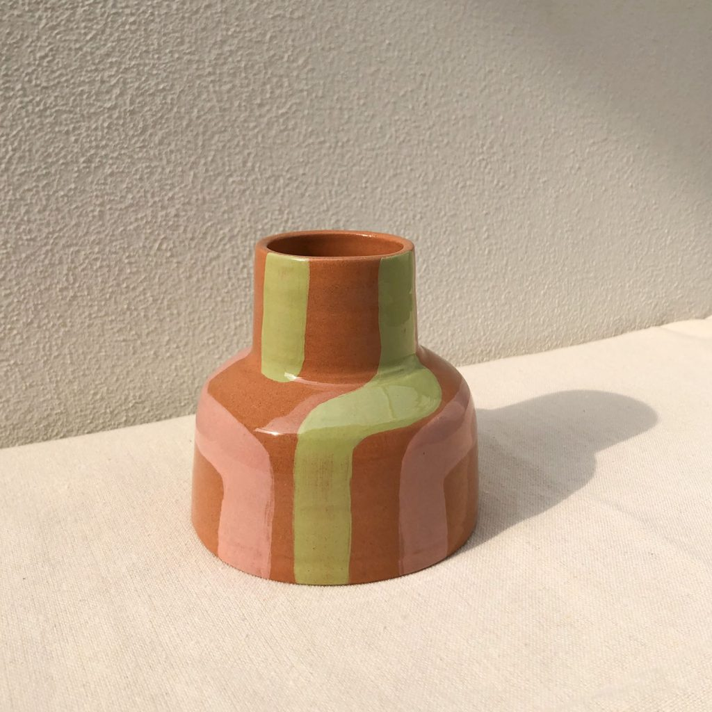 Fragola e Pistacchio vase
