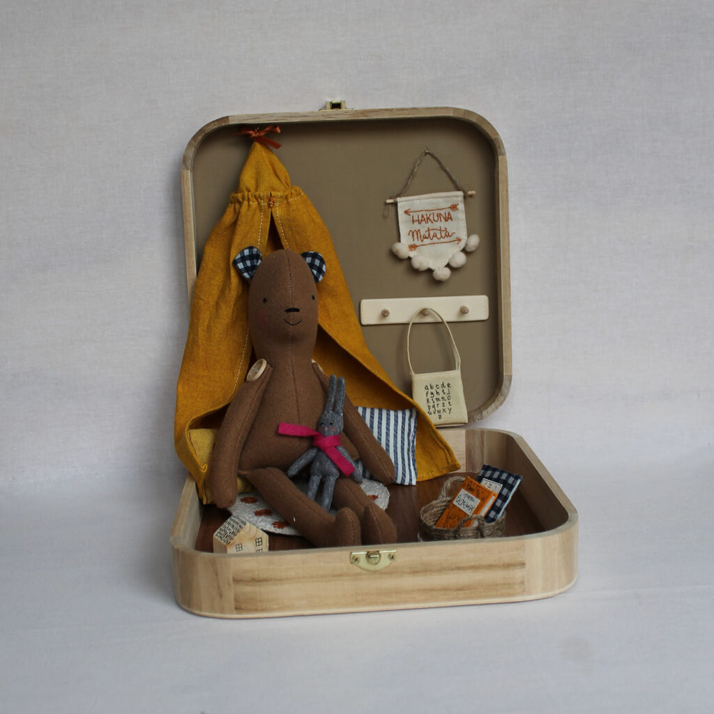 Room box with Teddy Bear