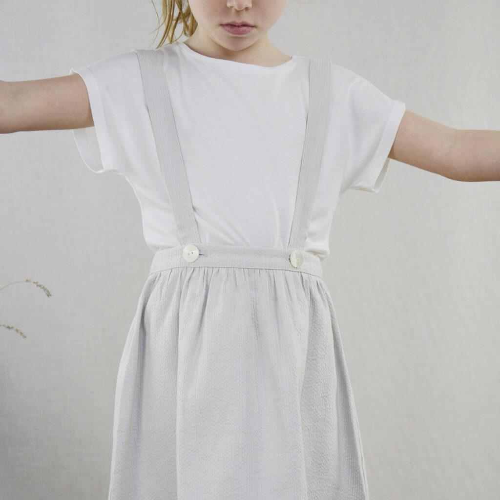Elli overalls skirt and Niki t-shirt