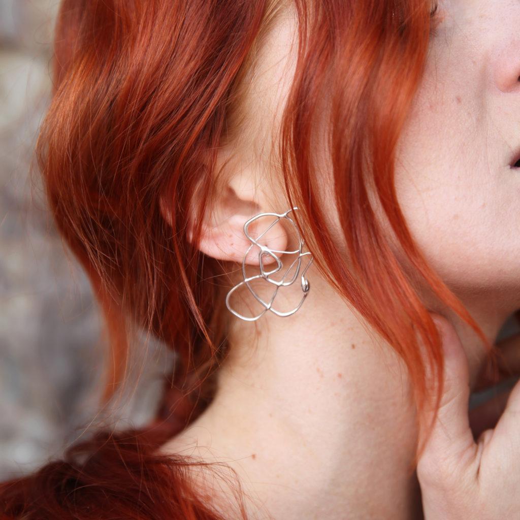 Fluida single earring III