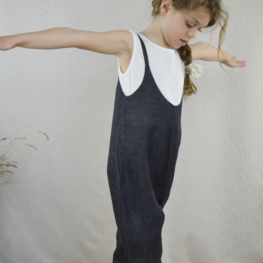 Isidora jeans overalls and Chiara top