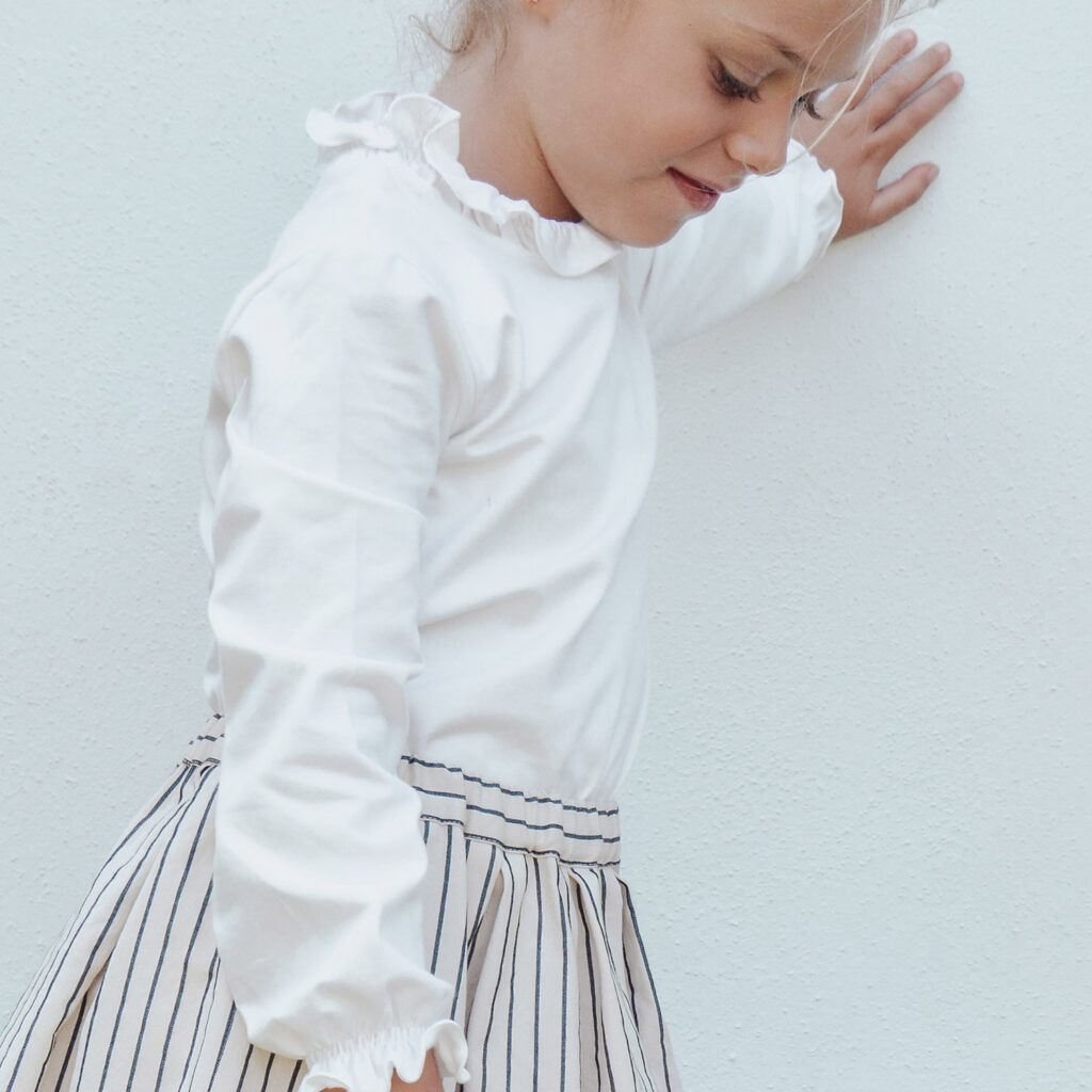 Mila striped skirt and Lola sweater