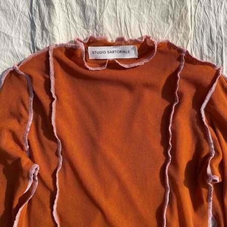 Tesa Longsleeves arancio-rosa