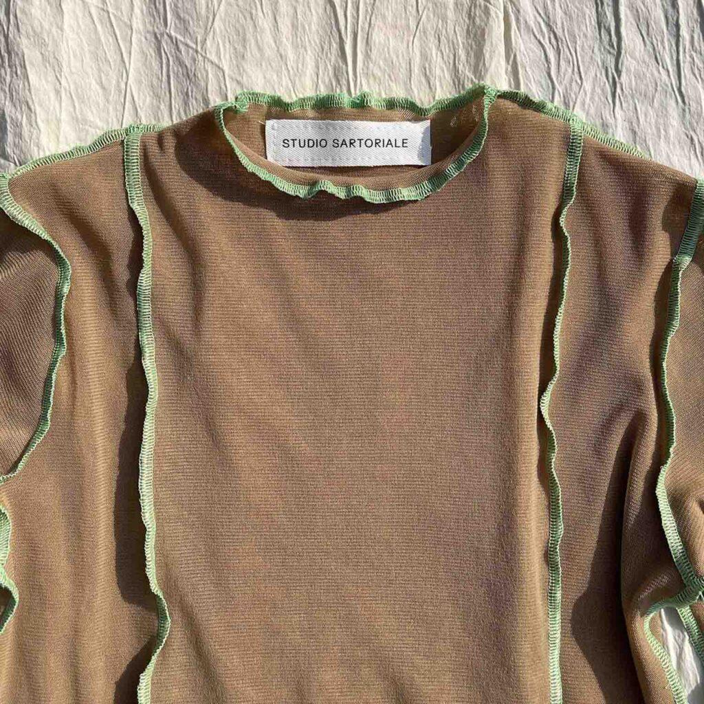 Tesa Longsleeves beige-verde