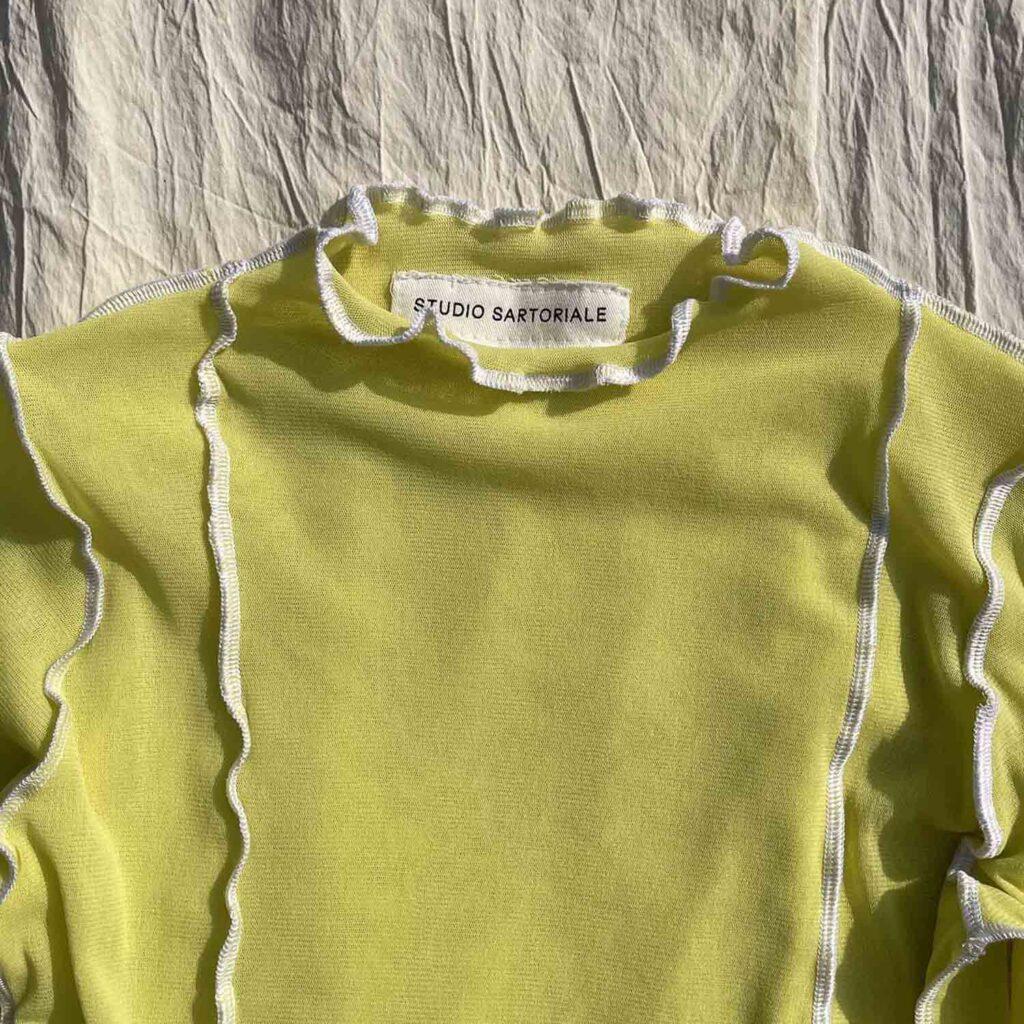 Tesa Longsleeves bianca-gialla