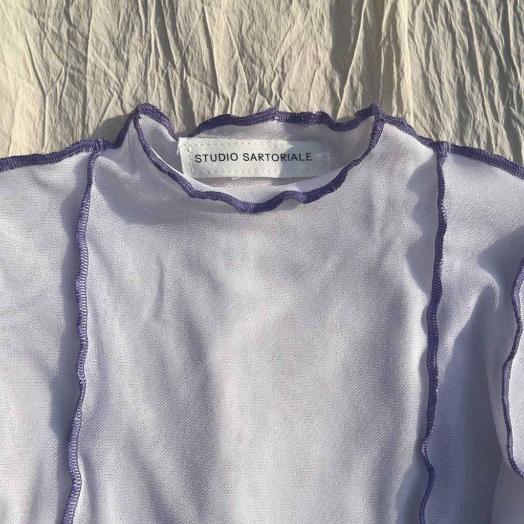 Tesa Longsleeves bianca-lilla