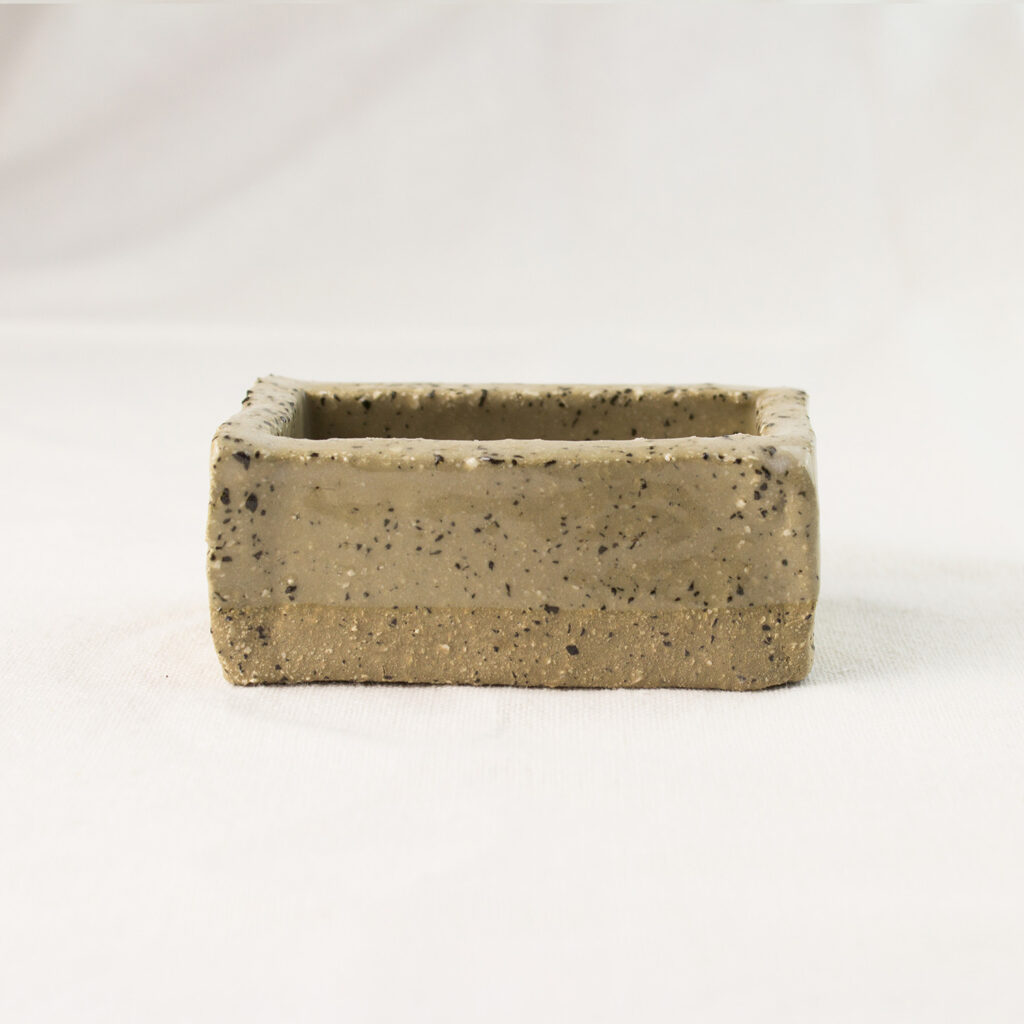 Brick soap dish stone
