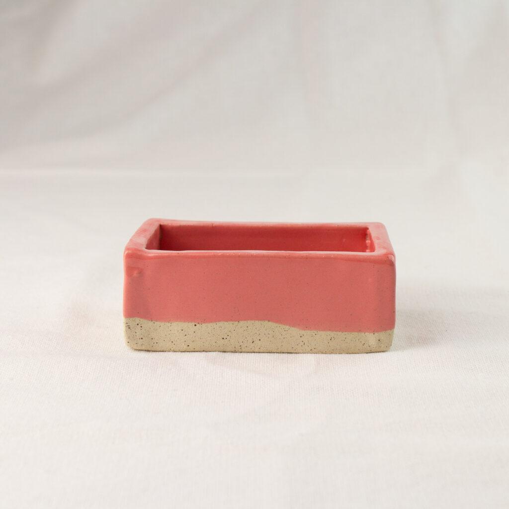 Brick pink soap dish