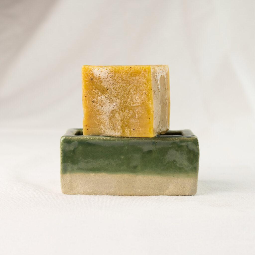 Brick green soap dish