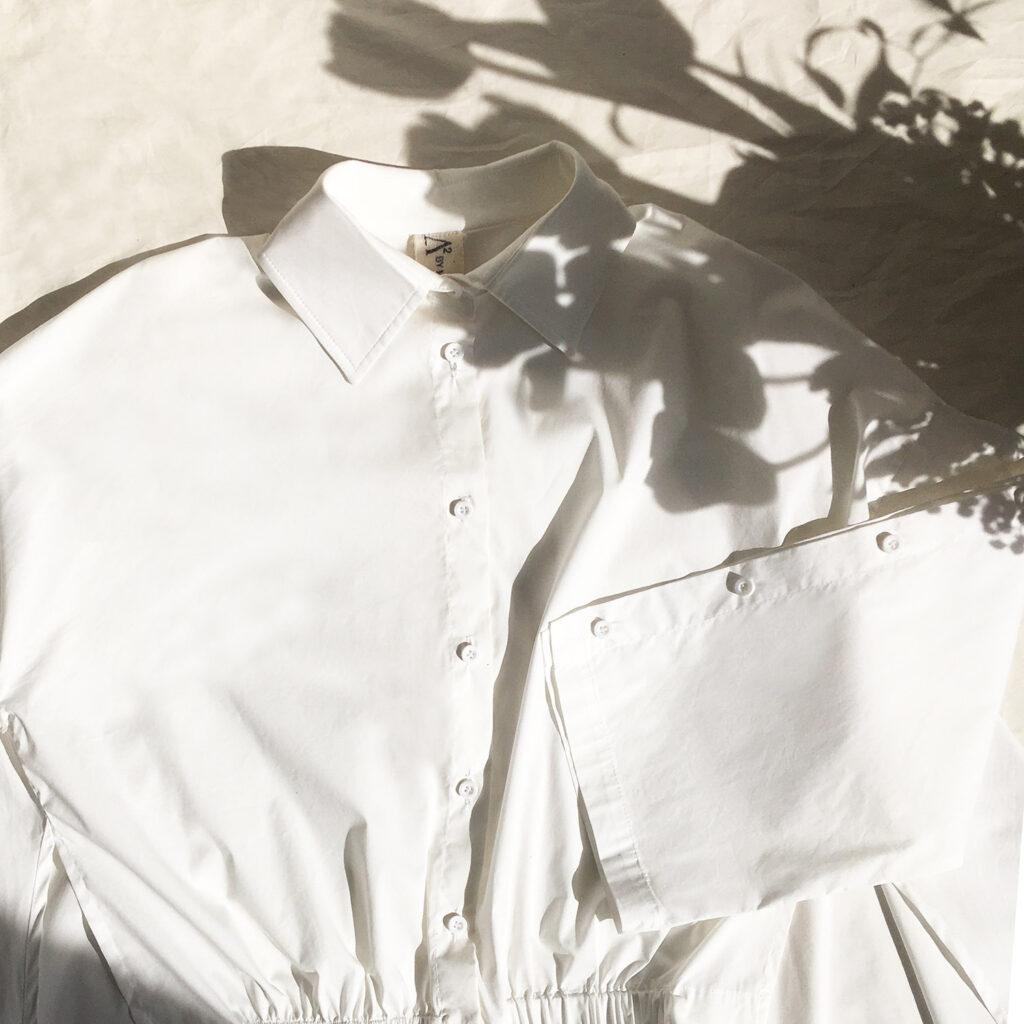 Camicia asimmetrica bianca