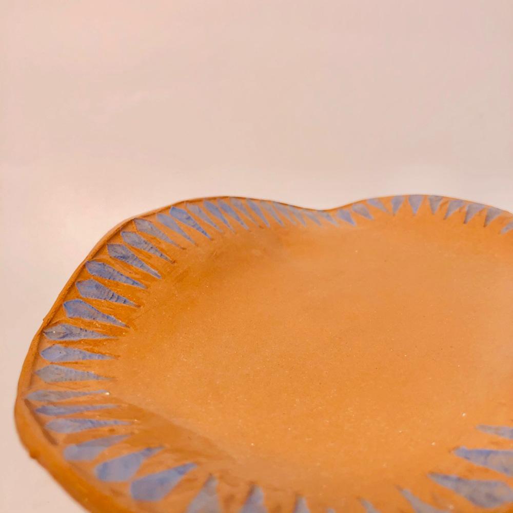 Enrosadira blue tray