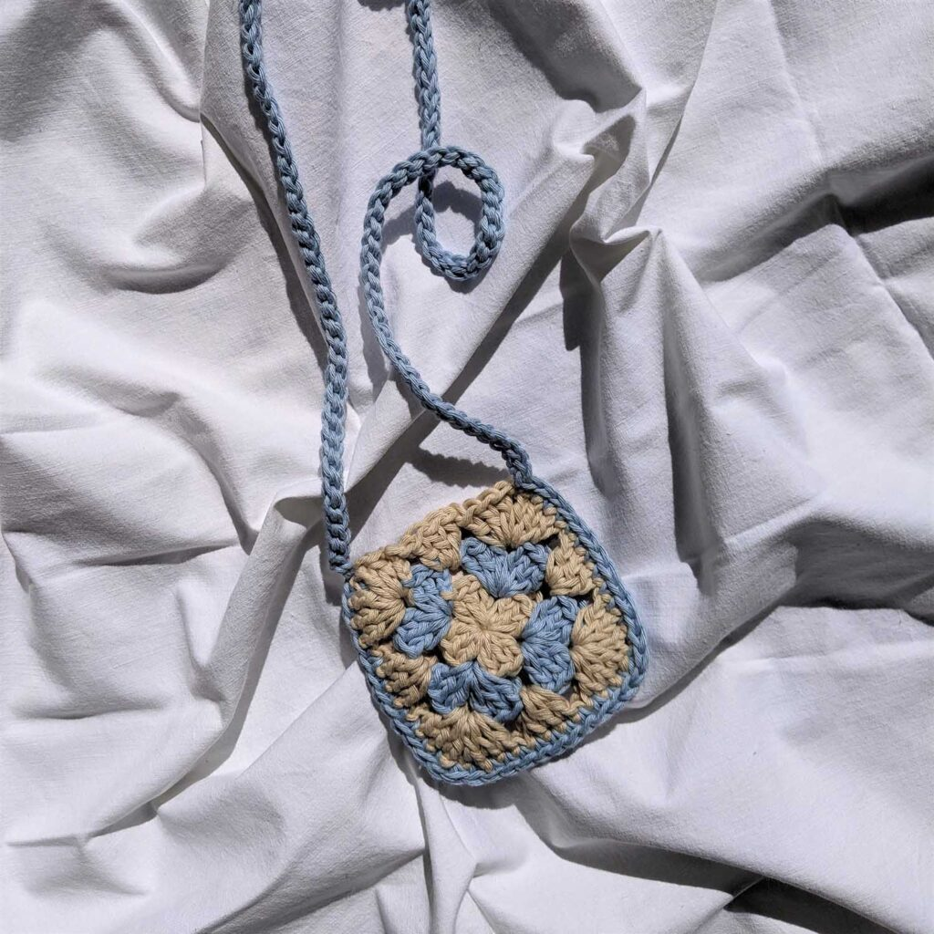 Mini Granny Bag light blue-beige