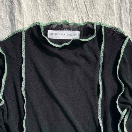 Tesa Longsleeves nera-verde