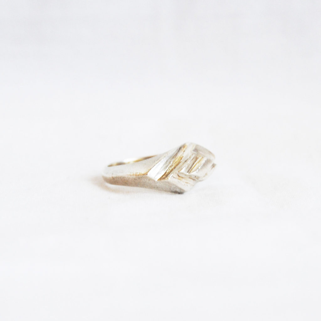 Optical ring silver/bronze