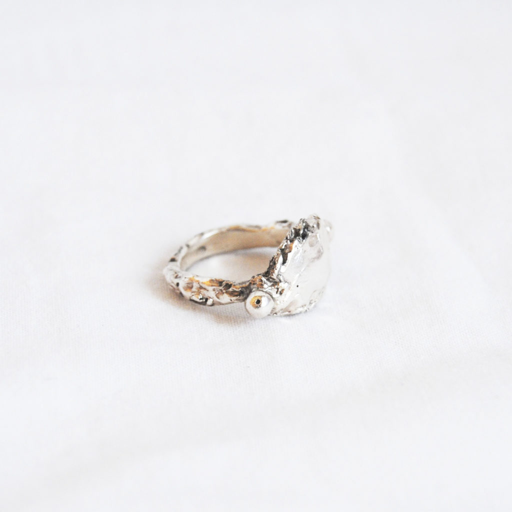 Ring rought silver/bronze - closed