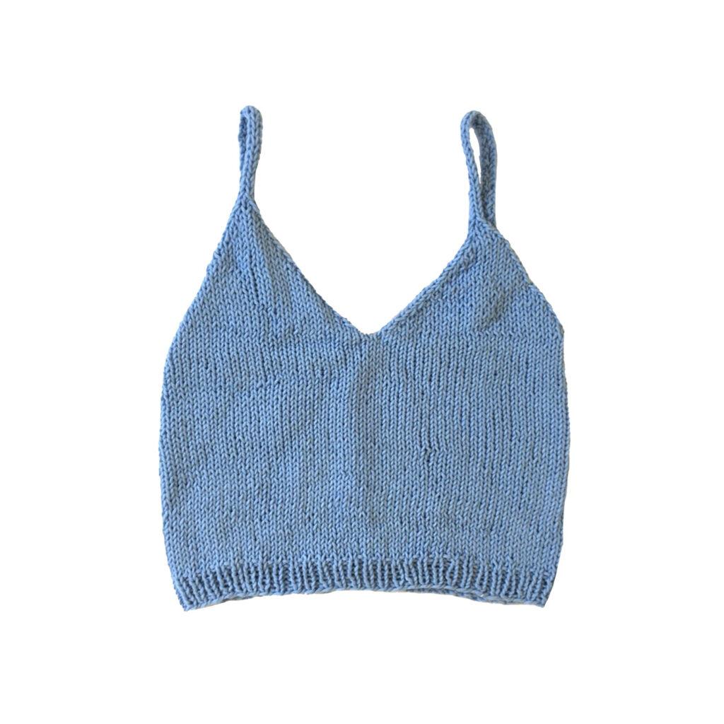 Top Anna azzurro