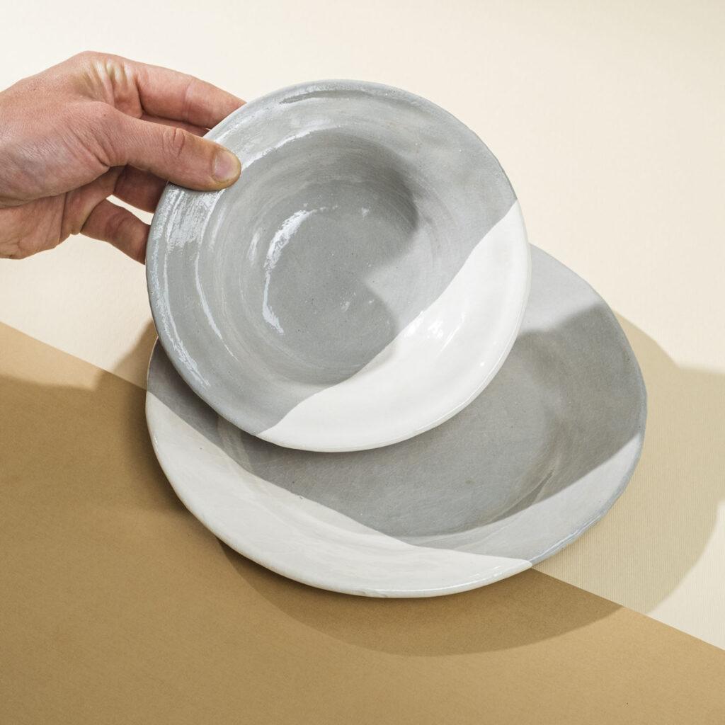 Grey-clay plates
