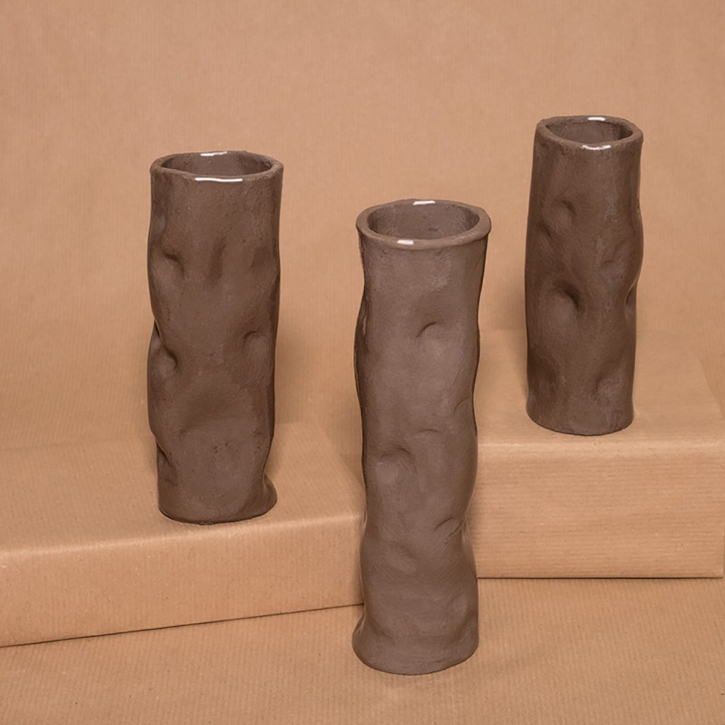 Dark clay vase