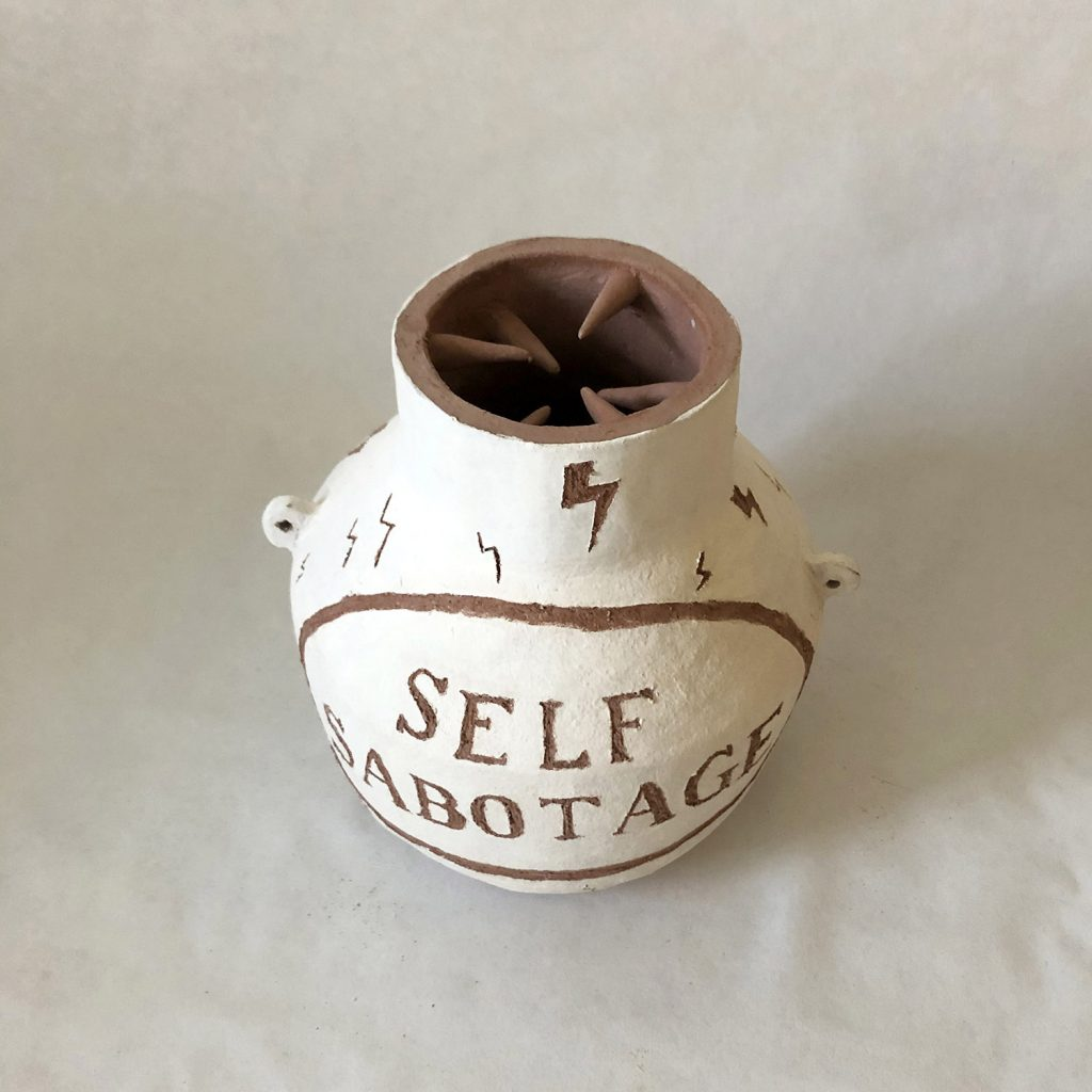 Self-Sabotage vase