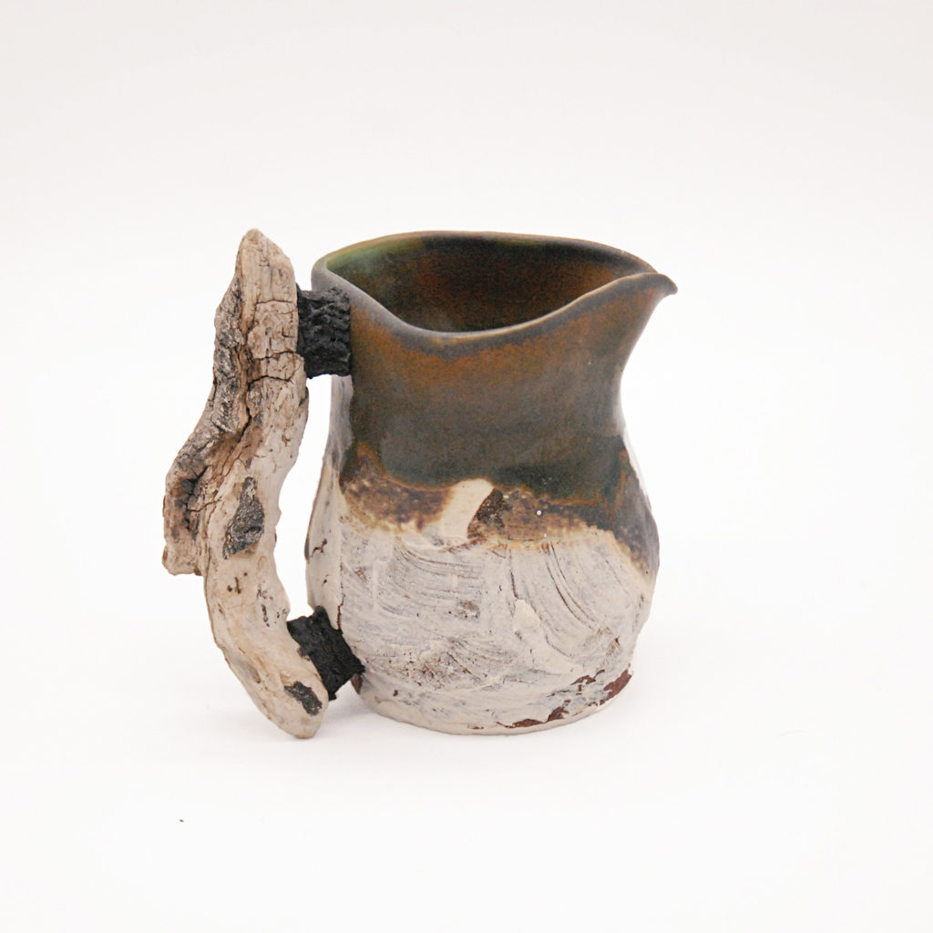 Jug with wooden handle