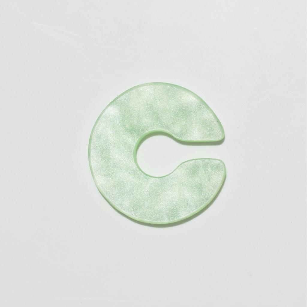 Earcuff satellite green marbled