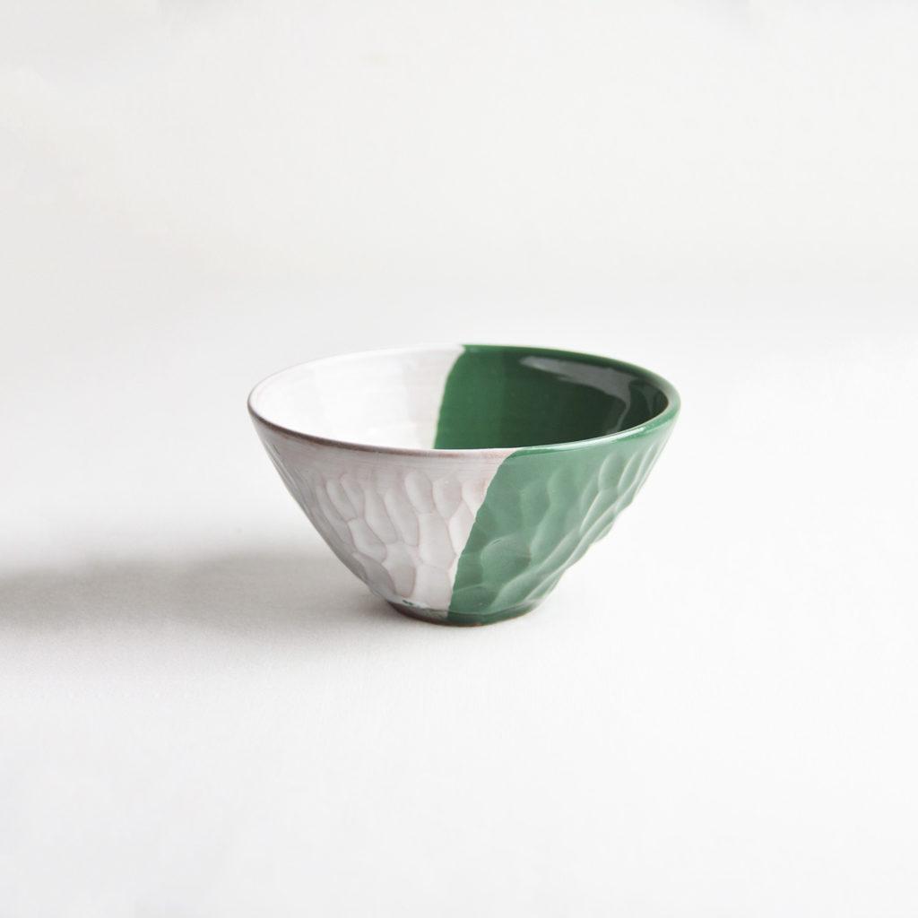 Green-white bowl