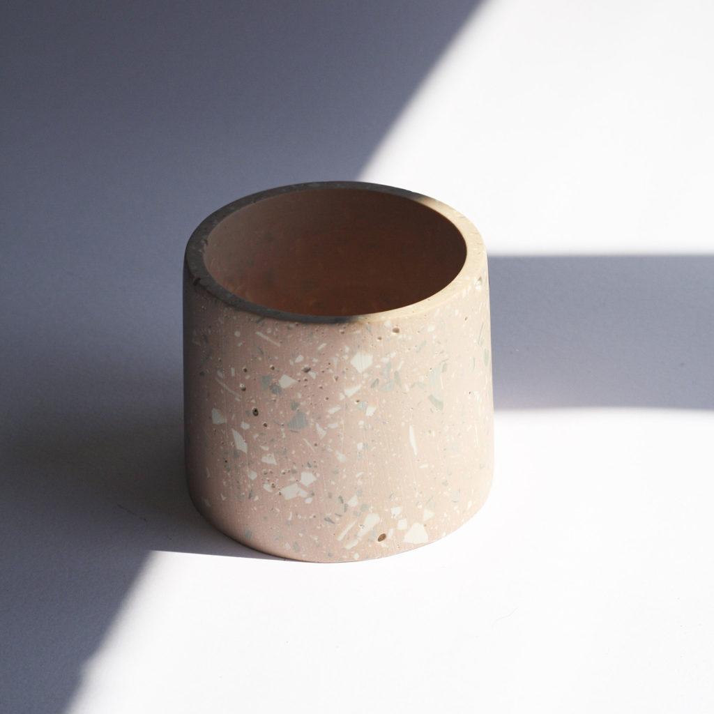 Round pink jar